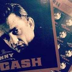 Johnny Cash is looking good on a stamp pane.