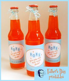 """Pops, you are one suh-weet dude!"" Retro Pop Labels / Father's Day Printables"