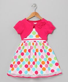 Take a look at this Rainbow Polka Dot Dress & Shrug - Infant, Toddler & Girls by Longstreet on #zulily today!