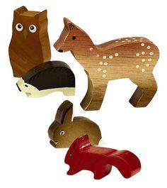 anim stuf, stuf anim, woodland creatures, babi, anim set, woodland animals, wooden anim