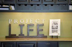 love the decor for a craft room & I adore Becky Higgins site!