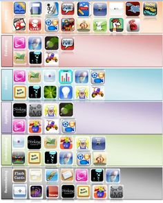Blooms Taxonomy in iPad apps