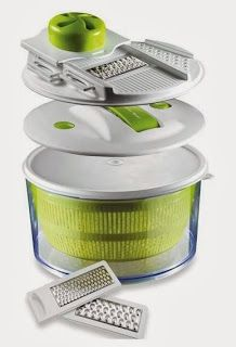 4-in-1 Salad Spinner & Mandoline Slicer