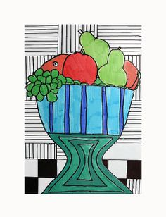 ROY LICHTENSTEIN INSPIRED FRUIT BOWL
