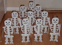 Crack of Dawn Crafts: Ninja Party Skeleton Bowling Game skeleton bowl, ninja parti, toilet paper rolls, ninja party, birthday parties, dawn craft, lego birthday, bowl game, parti idea