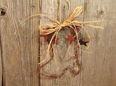 Barbed Wire Cowboy Boot Ornament by RamblingRoseStudio on Etsy, $6.00