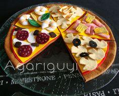 Pizza hecha con Fieltro
