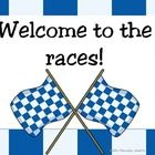 Here is a great race car theme. Everything you would need to get started with a cool looking classroom. Deskplates, 100's chart, months of the year...