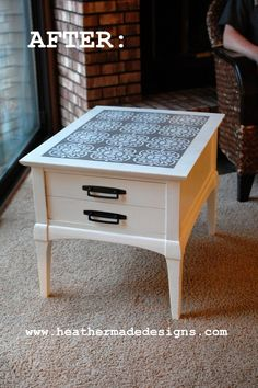 Table Re-Do ~ from Drab to Fab