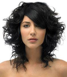 mid length curly hair