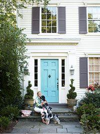 Gorgeous blue front door