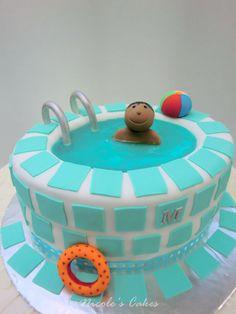 Swimming Pool Birthday Cake