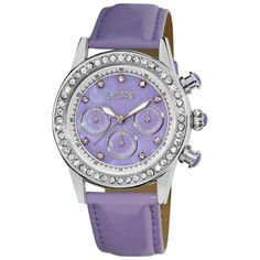 August Steiner Ladies' Multifunction Dazzling Watch In Light Purple