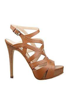 Wood a leather platform heels ~ fabulous