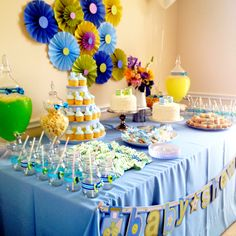 Baby Shower bow tie theme for my best friends baby shower!