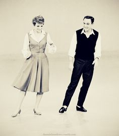 Julie Andrews and Gene Kelly.