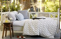 porch bed, books, hanging beds, dream hous, cushions, design inspir, patio, blog, porches