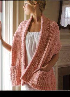 crochet and more by simo: Lazy readers wrap Patron ❥Teresa Restegui http://www.pinterest.com/teretegui/❥