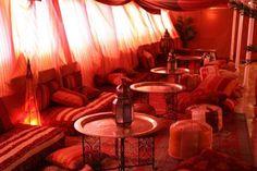 Moroccan decorated boat interior