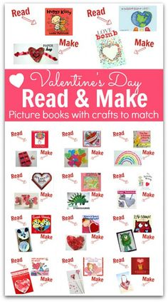 Read & Make – Valentine's Day Books and Crafts from No Time for Flash Cards