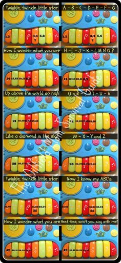 Using your #kids #toys to make real #music. (#Fun_Activity) #Teach your kids to play #nursery_rhymes such as the #alphabet and twinkle twinkle little star | www.oilfieldmomsurvivalguide.com