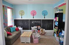 kid playroom, chalkboard walls, paint walls, new room, blackboard paint