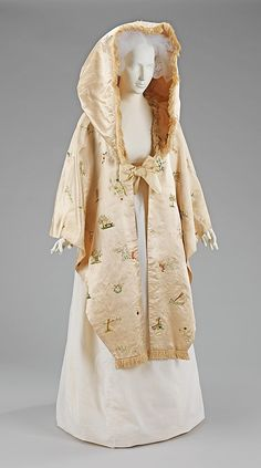 Cape, 1795–1800, British, Silk. Brooklyn Museum Costume Collection at The Metropolitan Museum of Art.