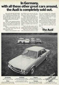 Audi 100ls Completely Sold Out In Germany (1971)
