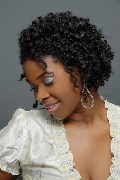 twist out hair style