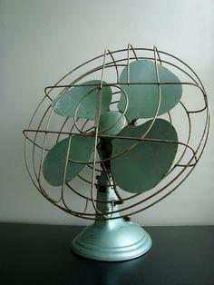 Vintage Green Fan