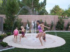 backyard splash pad. would be cool.