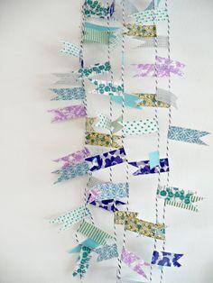 #DIY garland washi tape