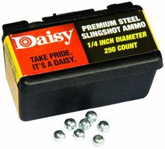 Daisy Outdoor Products Steel Slingshot Ammo (Black, 1/4 Inch) by Daisy, http://www.amazon.com/dp/B00419HNW4/ref=cm_sw_r_pi_dp_sg9Ppb0EQVS9R
