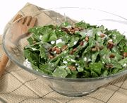 SPINACH SALAD WITH HOT BACON VINAIGRETTE