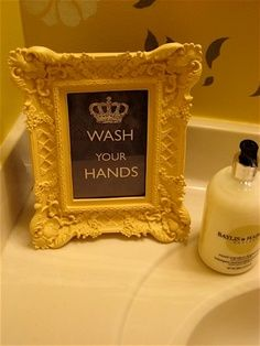 LOVE this idea! I am totally going to make one for the guest bathroom (when we move).
