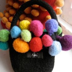 Mini Bobble Felted Bag Pattern by Noni Designs - Exclusive FREE pattern download