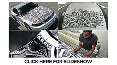 Sharpie Mustang artist adds some magic with a few black markers