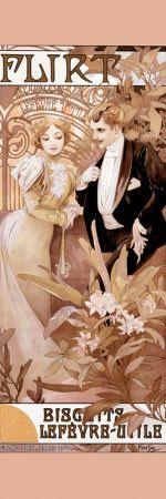 Alphonse Mucha: Flirt alfons mucha, alphons mucha, nouveau art, flirt art, art prints, art nouveau, alphonse mucha, alfon mucha