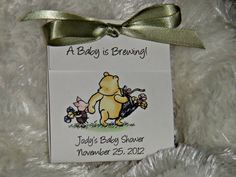 Personalized Classic Pooh Winnie the Pooh Baby Shower by SuLuGifts, $16.20