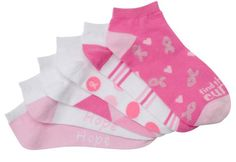 Show your support for finding a cure goes right down to your toes with these Nurse Mates Women's 6-Pack Anklet Socks.