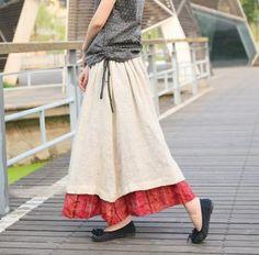 Cute skirt ruffl skirt, sew, fashion, long linen, cloth, long skirts, linen ruffl, layer long, linens