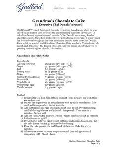 Beverly Hills Chocolate Cakerecipe