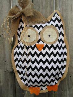 burlap owl.....ADORABLE!!!!
