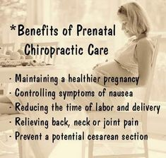 The benefits of prenatal chiropractic care! couldn't be more true, there are actually a LOT more  benefits than that.. www.WellBeingsChiropractic.com