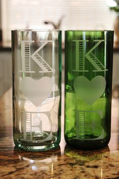 Upcycled Wine Bottle Cups