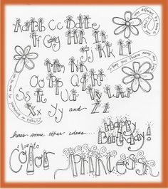 Pretty letters.