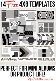 14 free 4x6 templates for project life