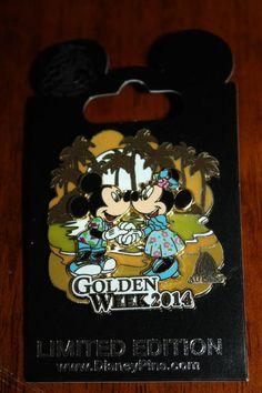 New Disney Aulani Hawaii Japan Golden Week 2014 Mickey Minnie Mouse Pin Limited
