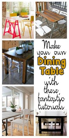 graphic design, diy dine, dine tabl, design job, tabl tutori, building furniture table, build your own table, sawhors tabl, dining tables