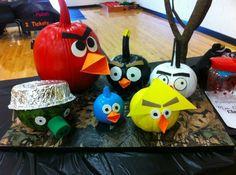 angry bird pumpkins! pumpkin idea, bird pumpkin, angri bird